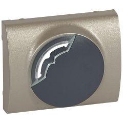 Лицевая панель Legrand Galea Life электронного термостата титановая 771453