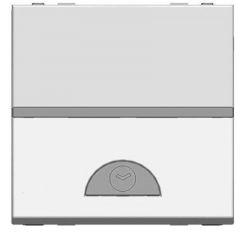 Выключатель на МОПТс таймером ABB Zenit серебро N2262.1 PL
