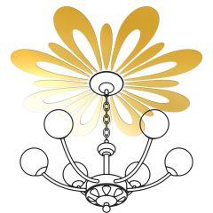 Декор настенно-потолочный Ваша Светлость РОМАШКА-8 золото 2-01501FG Комплект наклеек