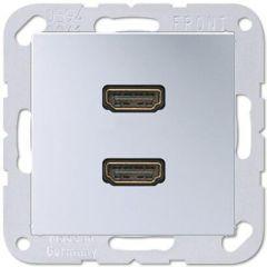 Розетка HDMI двойная Jung A 500 алюминий MAA1133AL