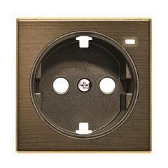 Лицевая панель ABB Sky розетки Schuko с/з с подсветкой античная латунь 2CLA858880A1201