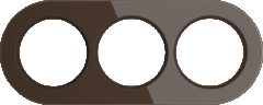 Werkel Рамка на 3 поста (Коричневый) WL21-frame-03