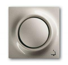Лицевая панель ABB Impuls выключателя одноклавишного с подсветкой Звонок шампань-металлик 2CKA001753A5309
