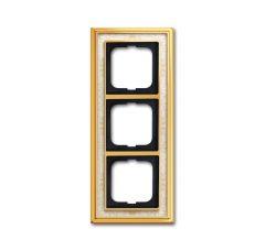 Рамка 3-постовая ABB Dynasty латунь полированная/белая роспись 2CKA001754A4572
