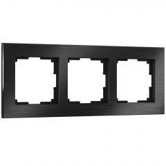 Werkel Рамка на 3 поста (черный алюминий) W0031708