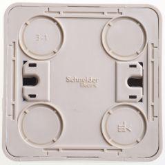 Выключатель Schneider Electric ЭТЮД кнопочный с самовозвратом О/У 10АX КРЕМОВЫЙ