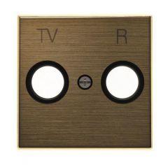 Лицевая панель ABB Sky розетки TV-R античная латунь 2CLA855000A1201