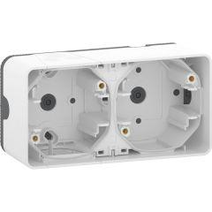 Schneider Electric MUREVA S ДВОЙНОЙ БОКС для накладного монтажа горизонтальный, БЕЛЫЙ, IP55