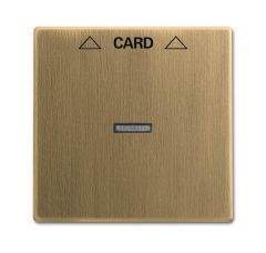 Лицевая панель ABB Dynasty выключателя карточного латунь античная 2CKA001710A4078