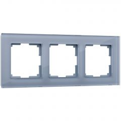 Werkel Рамка на 3 поста (серый,стекло) W0031115