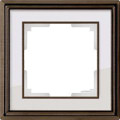 Werkel Рамка Palacio на 1 пост (бронза/белый) WL17-Frame-01