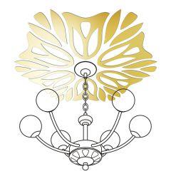Декор настенно-потолочный Ваша Светлость ВЕРЕСК-6 золото 2-01801FG Комплект наклеек