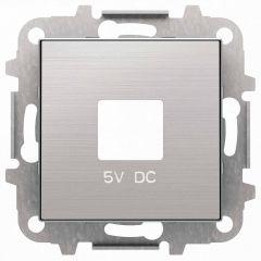 Лицевая панель ABB Sky розетки USB нержавеющая сталь 2CLA858500A1401