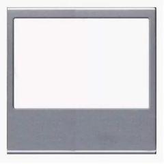 Лицевая панель ABB Zenit FM-радио серебро N2268 PL