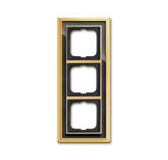 Рамка 3-постовая ABB Dynasty латунь полированная/черное стекло 2CKA001754A4567
