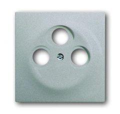 Лицевая панель ABB Impuls розетки TV-R-SAT серебристо-алюминиевый 2CKA001753A0038
