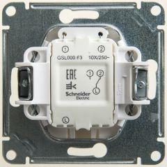 Schneider Electric GLOSSA 1-клавишный ПЕРЕКЛЮЧАТЕЛЬ с подсветкой, сх.6а,10АХ, механизам, ПЕРЛАМУТР