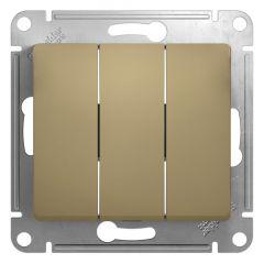 Schneider Electric GLOSSA 3-клавишный ВЫКЛЮЧАТЕЛЬ, сх.1+1+1, 10АХ, механизм, ТИТАН