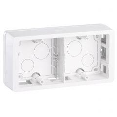 Коробка накладного монтажа 2-постовая Legrand Celiane белая 080242