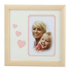Фоторамка Image Art серия Eco С22, 20x20 Розовые Сердца, размер фото- 10x15 художественное паспарту, 2 слоя Б0050051