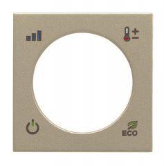 Лицевая панель ABB Zenit терморегулятора KNX шампань N2240.4 CV