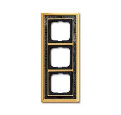 Рамка 3-постовая ABB Dynasty латунь полированная/черная роспись 2CKA001754A4577