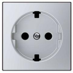 Лицевая панель ABB Sky розетки Schuko с/з серебристый алюминий 2CLA858890A1301