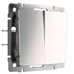 Werkel Выключатель двухклавишный проходной (глянцевый никель) W1122002