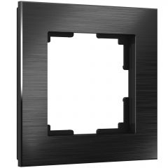 Werkel Рамка на 1 пост (черный алюминий) W0011708