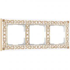 Werkel Рамка на 3 поста (белое золото) W0031523