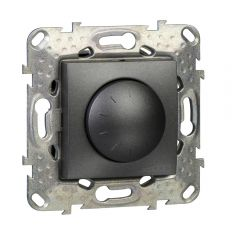Schneider Electric UNICA TOP ДИММЕР пов-наж,д/ламп нак/гал,3-пров подкл,230В,40Вт,1000ВА, ГРАФИТ
