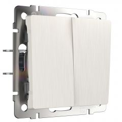 Werkel Выключатель двухклавишный проходной (перламутровый рифленый) W1122013