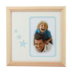 Фоторамка Image Art серия Eco С22, 20x20 Голубые звезды, размер фото- 10x15 художественное паспарту, 2 слоя Б0050052