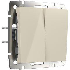 Werkel Выключатель двухклавишный проходной (слоновая кость) W1122003