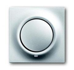 Лицевая панель ABB Impuls выключателя одноклавишного с подсветкой серебристо-алюминиевый 2CKA001753A0077