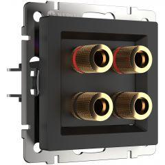 Werkel Акустическая розетка (черный матовый) W1185008