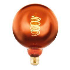 Лампа светодиодная Eglo E27 4W 2000K медная 11884