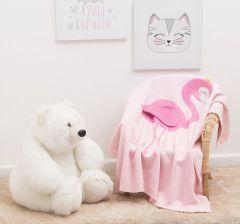 Крошка Я Плед детский (90x90 см) Фламинго