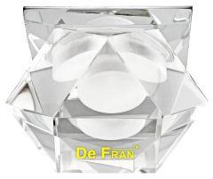 """Точечный светильник De Fran FT 808 LED светодиодный """"Многогранник"""", с ПРА и LED хром, спектр теплый белый 3100К LED 1 x 3 вт"""