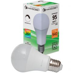 Лампа светодиодная диммируемая Наносвет E27 12W 2700K матовая LE-GLS-D-12/E27/927 L238