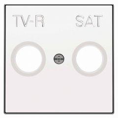 Лицевая панель ABB Sky розетки TV-R-SAT альпийский белый 2CLA855010A1101