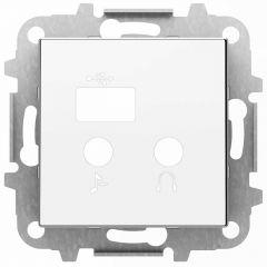 Лицевая панель ABB Sky медиа-комбайна альпийский белый 2CLA856830A1101
