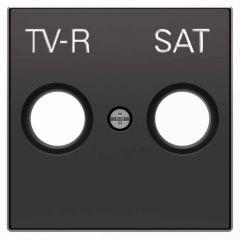 Лицевая панель ABB Sky розетки TV-R-SAT чёрный бархат 2CLA855010A1501