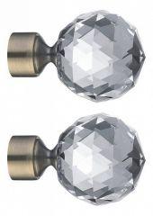 Эскар Набор из 2 наконечников для карнизов Шар кристальный