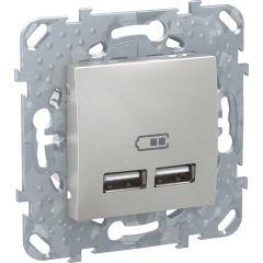 Schneider Electric UNICA TOP РОЗЕТКА USB, 2.1 А, АЛЮМИНИЙ