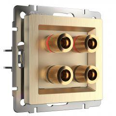 Werkel Акустическая розетка (шампань рифленый) W1185010