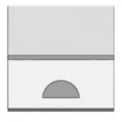Лицевая панель ABB Zenit 2-модульного выключателя с окном для шильдика серебро N2201.9 PL