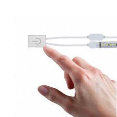 Выключатель сенсорный Paulmann MaxLED макс.144Вт 24В Серебро Для лент светодиодных Димм 70975