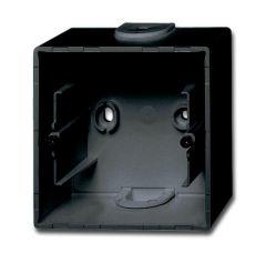 Коробка для накладного монтажа 1-постовая ABB Basic55 chateau-черный 2CKA001799A0965