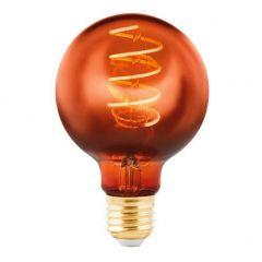 Лампа светодиодная Eglo E27 4W 2000K медная 11882